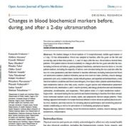 Changes in blood biochemical markers before, during, and after a 2-day ultramarathon