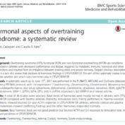 Hormonal aspects of overtraining syndrome: a systematic review