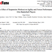The Effect of Suspension Workout on Agility and Forces Performance in Elite Basketball Players