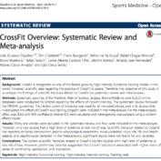 CrossFit Overview: Systematic Review and Meta-analysis